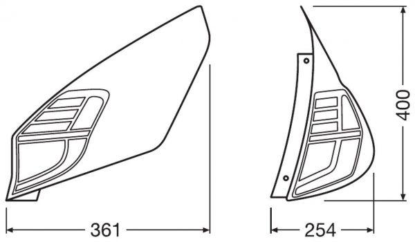 LEDriving Ford Fiesta Mk7.5 Tailings LEDTL101-CL