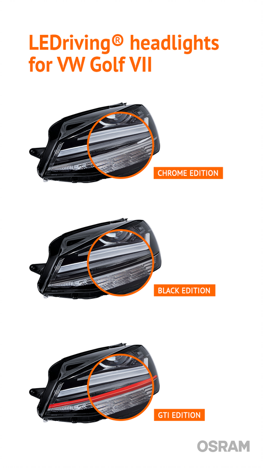 differenze kit fari led vw golf 7 osram ledriving