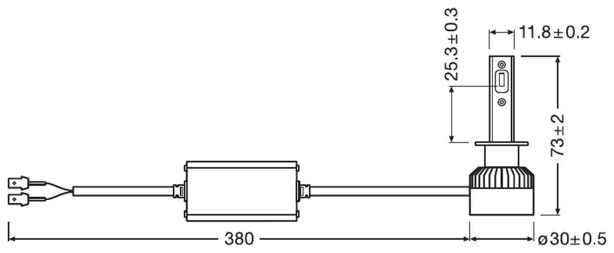 Lampadine H1 LED OSRAM 64150DWP
